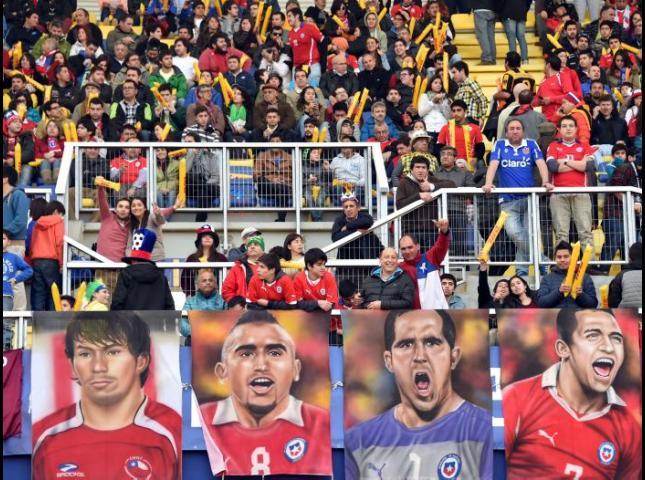 Imágenes de los jugadores de la Selección Chile de fútbol.