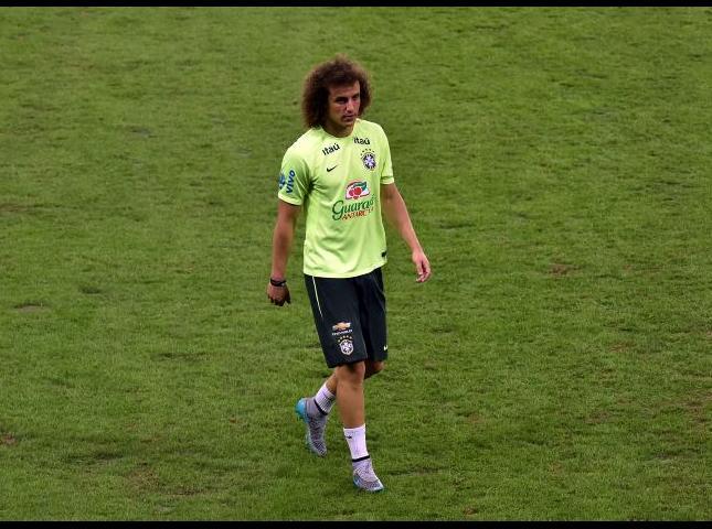 David Luiz durante los entrenamientos.