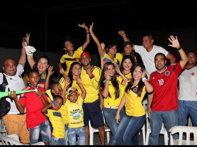 Cartageneros celebraron el triunfo de la tricolor.