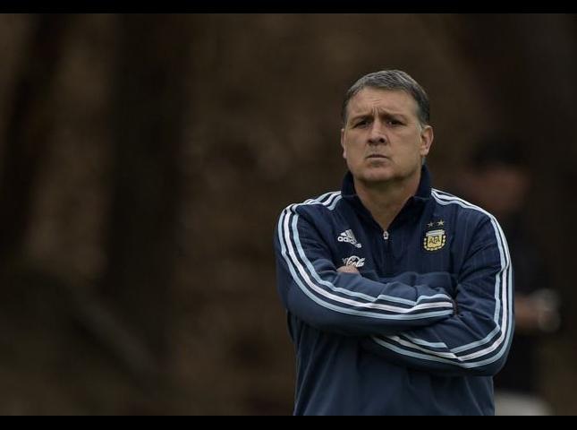 Gerardo Martino durante los entrenamientos.