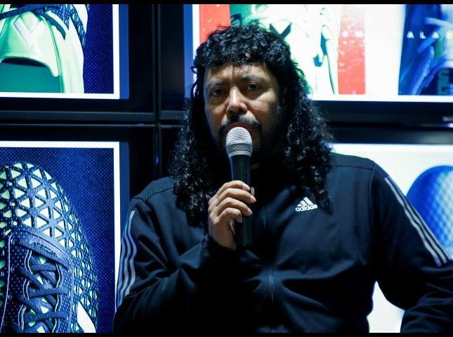 René Higuita durante el conversatorio.