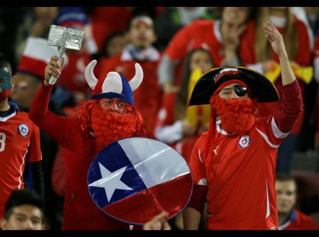 Hinchas chilenos.