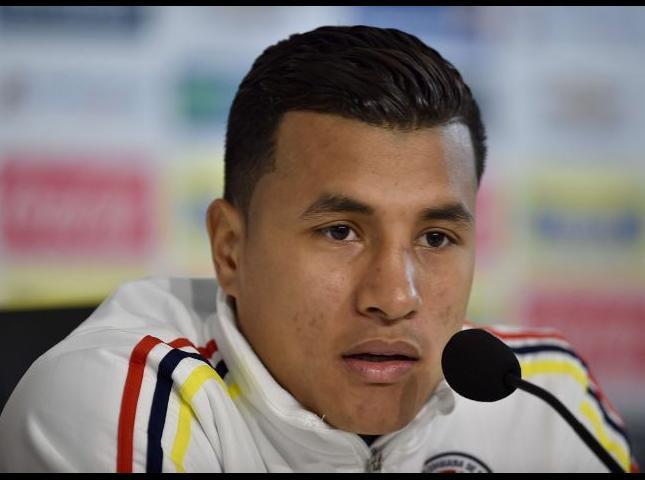 Jeison Murillo durante la rueda de prensa.