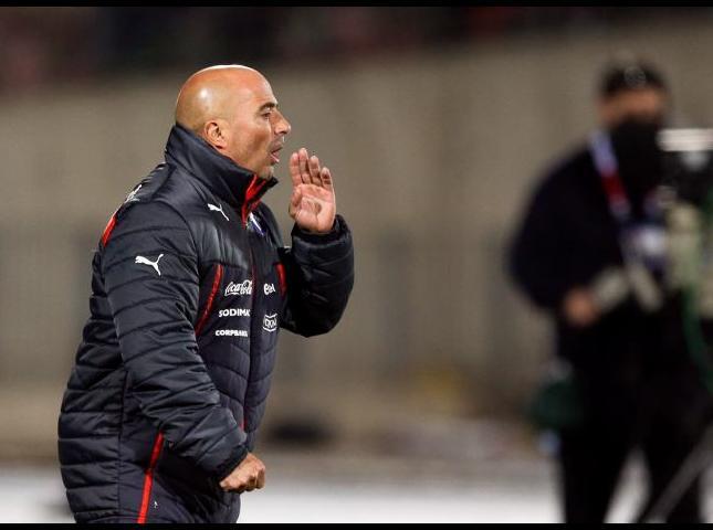 Jorge Sampaoli durante el partido.