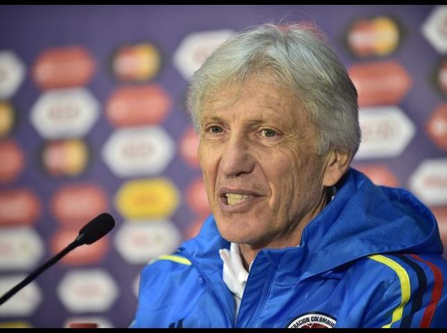 Jose Pekérman durante una rueda de prensa.