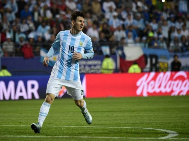 Lionel Messi durante el partido contra Jamaica.
