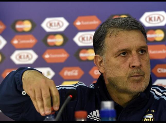 Gerardo Martino durante la conferencia de prensa.