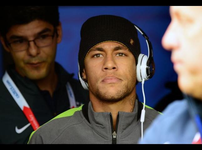 Neymar ayer en el partido ante Venezuela.