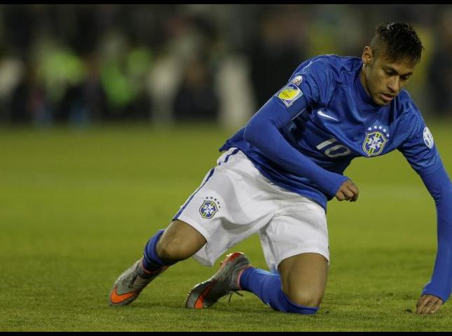 Neymar durante el partido contra Colombia.