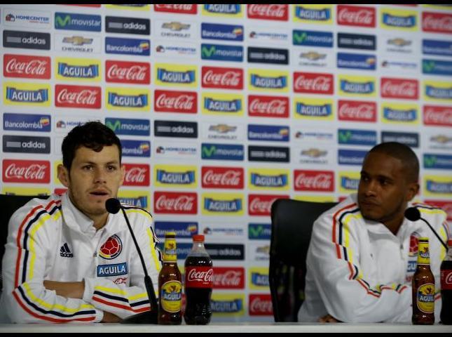 Pedro Franco y Edwin Valencia durante la rueda de prensa.
