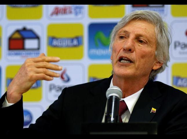 José Pékerman técnico de la Selección Colombia.