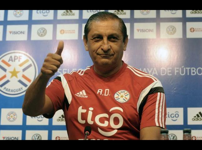 Ramón Diaz entrenador de Paraguay.