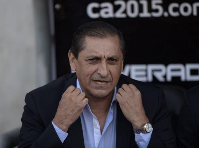 Ramón Díaz técnico de la selección paraguaya.