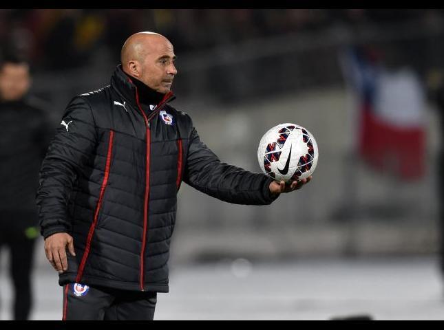 Jorge Sampaoli durante uno de los partidos.