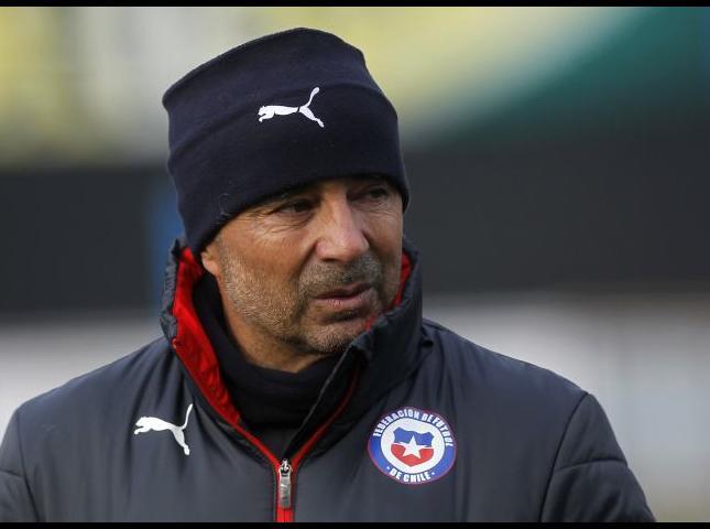 Jorge Sampaoli técnico de la selección chilena.