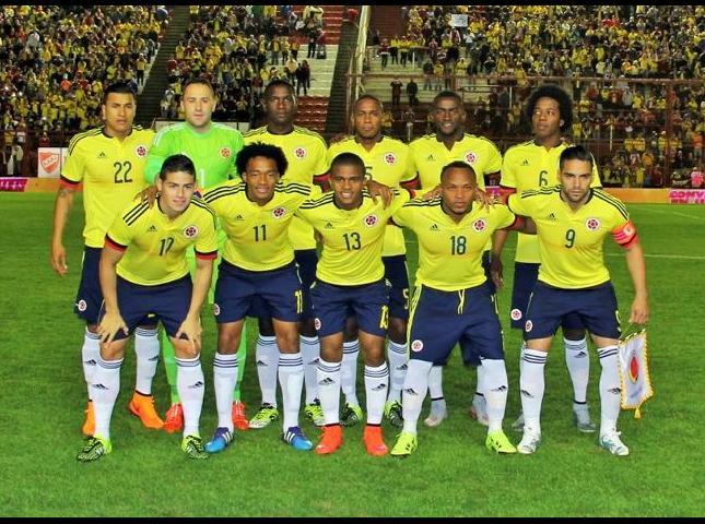 Selección Colombia en amistoso contra Costa Rica.