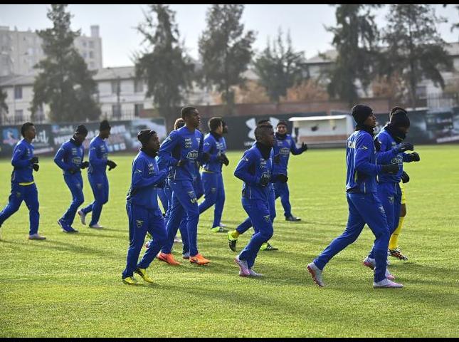 Selección ecuatoriana durante los entrenamientos.