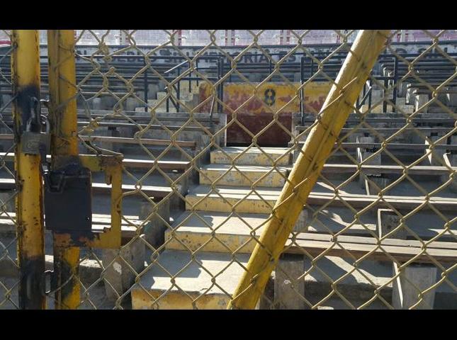 Espacio destinado para recordar a las víctimas torturadas en el Estadio Nacional de Santiago.