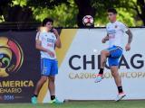 La selección Colombia en entrenamiento previo al encuentro con Chile.
