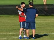 Argentina en entrenamientos.