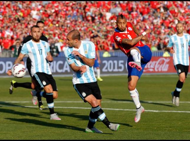 Argentina-Chile en la Copa América del año pasado.
