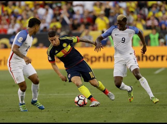 Primer partido de Colombia en la Copa América