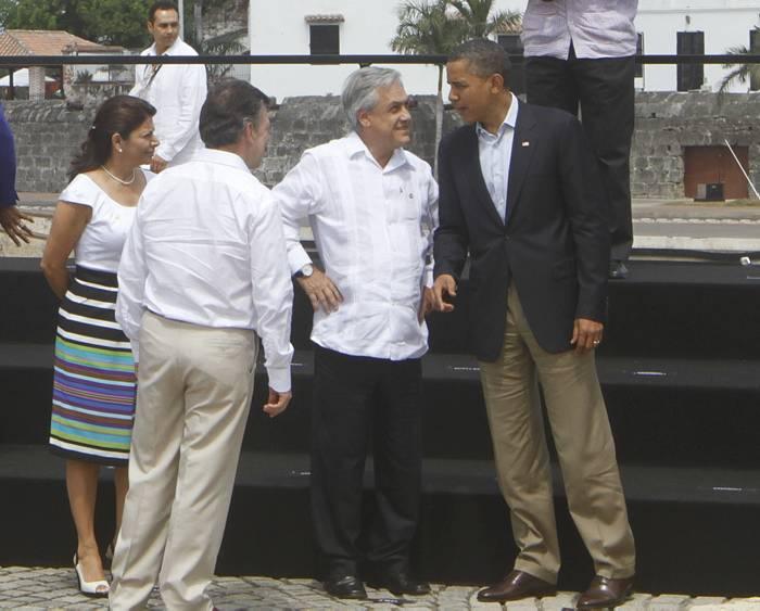 Presidentes antes de la foto oficial. -Julio Castaño -