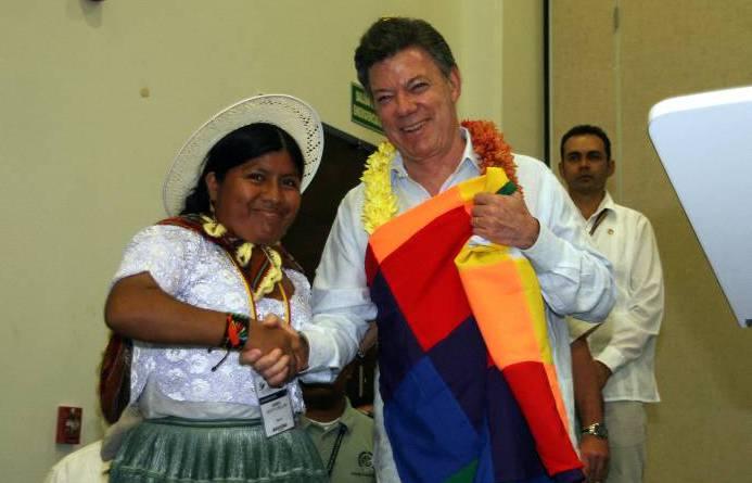 Santos elogia papel de los indígenas en la vida de Latinoamérica. -Prensa Presid