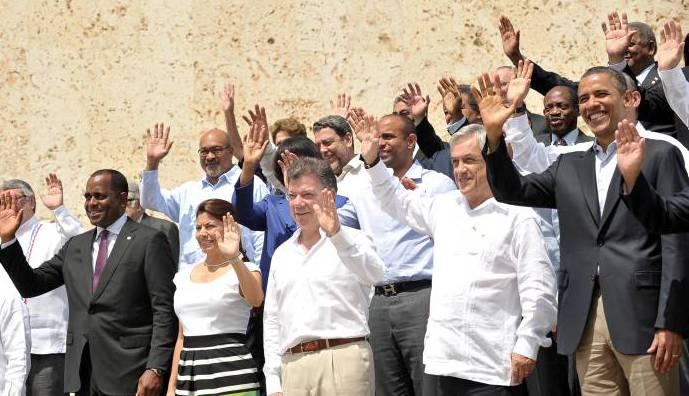 Foto oficial de la VI Cumbre de las Américas Cartagena de Indias -Prensa Preside
