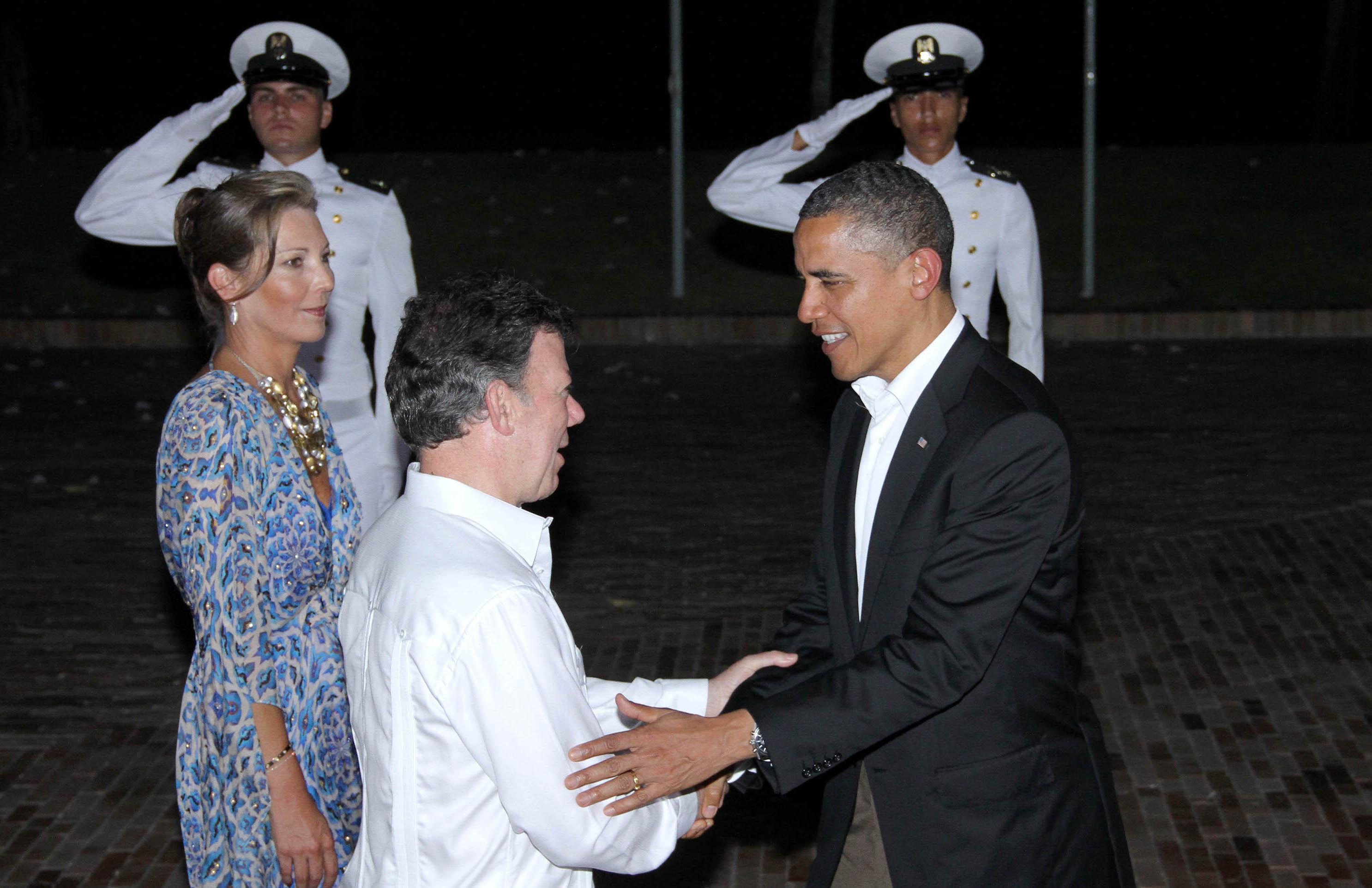 Cena ofrecida a los presidentes y jefes de Estado en la Casa de Huéspedes.