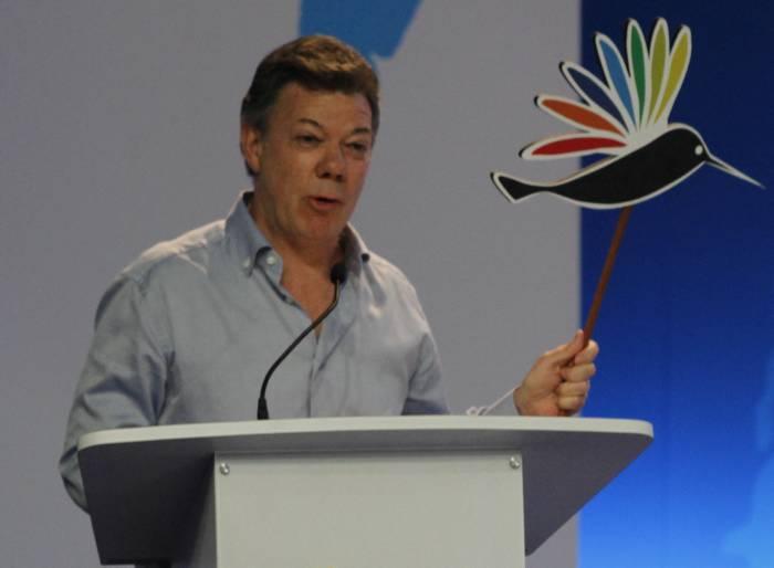 El presidente Santos inauguró la VI Cumbre de las Américas. -Maruja Parra - El U