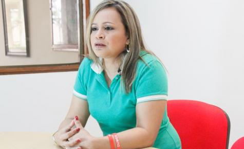 Mayerlis Angarita, candidata a la Alcaldía de San Juan Nepomuceno.