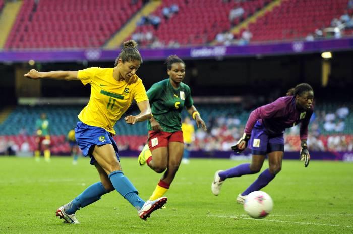Cristiane, jugadora estrella de Brasil