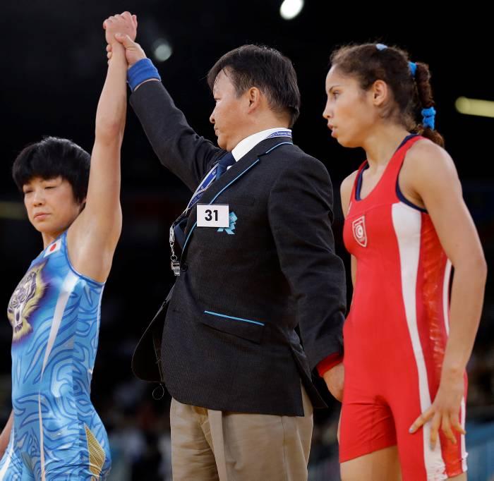 Japonesa Hitomi Obara oro en lucha libre
