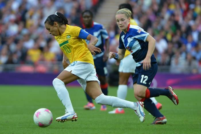 Capitana del equipo femenino de Fútbol Brasileño.