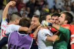 España celebra su llegada a los cuartos de final.