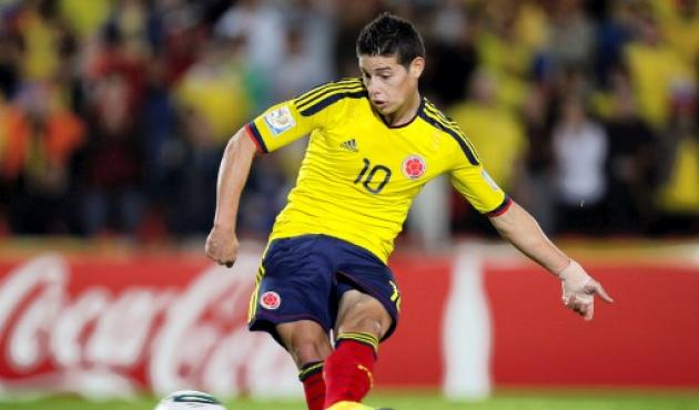 James Rodríguez, figura de Colombia Sub 20.