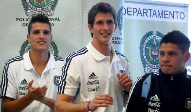 Las figuras de Argentina Erik Lamela, Rodrigo Rey Juan Manuel Iturbe.