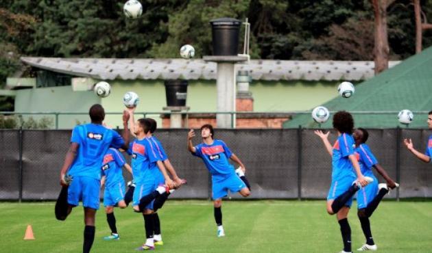 Portugal entrenó este jueves en Bogotá.