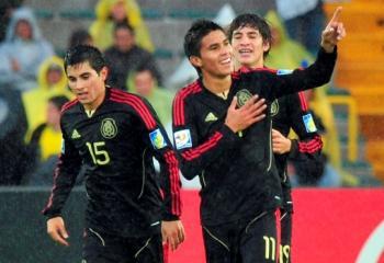 Ulises Dávila, autor del gol del empate 1-1 de México ante Francia.