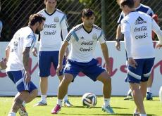 La selección de Argentina durante uno de los entrenamientos en Brasil.