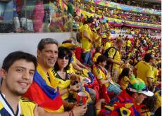 La familia Vásquez Suárez, luego del accidente, asistió al juego de Colombia ante Costa de Marfil.