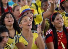 Los cartageneros y cartageneras se gozaron el triunfo de Colombia.