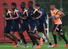 El seleccionado colombiano en el último entrenamiento.