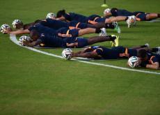 Colombia entrenó y se declaró lista para el juego de mañana ante Uruguay.
