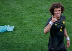 David Luiz, jugador de la selección de Brasil.