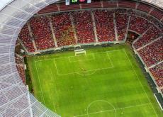 El estadio de Brasilia quedó hermoso.