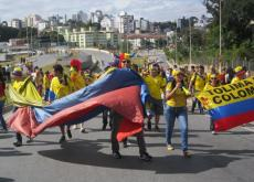 hinchas colombianos en belo horizonte brasil