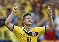 James Rodríguez, con dos tantos, es el goleador de Colombia.