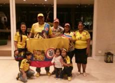 Toda la familia de Teófilo Gutiérrez está aquí en Brasil. Su mamá, su esposa y su papá.